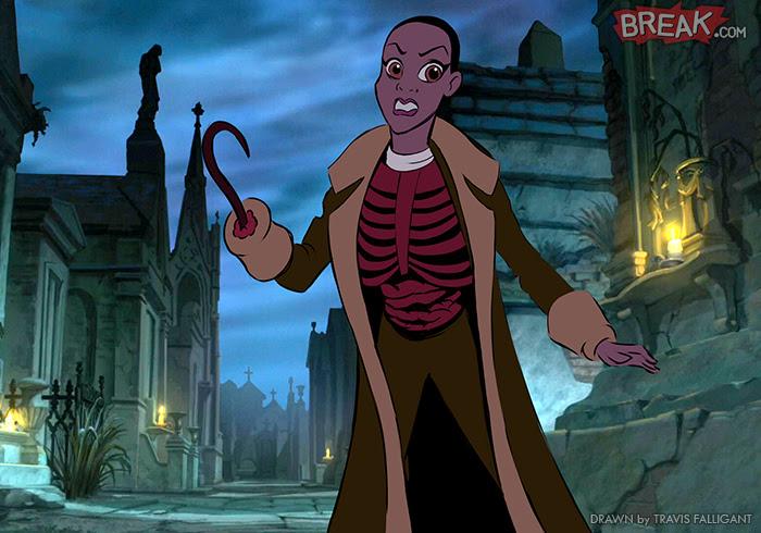 Disney Princesses as horror movie villains 11 5