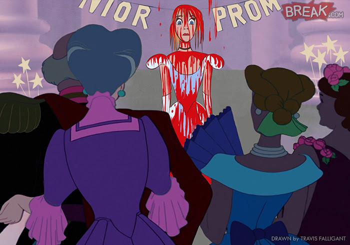 Disney Princesses as horror movie villains 11 9