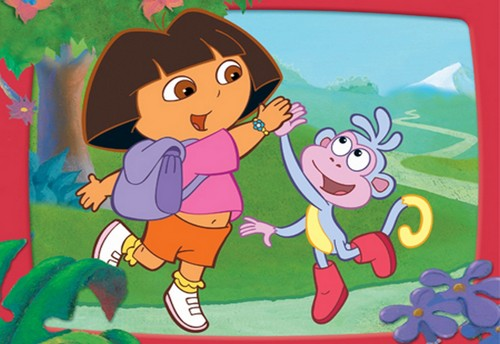 Dora the Explorer wallpaper called Dora And Boots Monkey