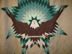 Eagle bintang w/peace pipe quilt