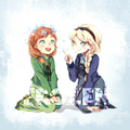 Elsa and Anna - elsa-the-snow-queen fan art