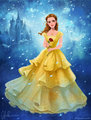 Emma Watson as Belle - beauty-and-the-beast-2017 fan art