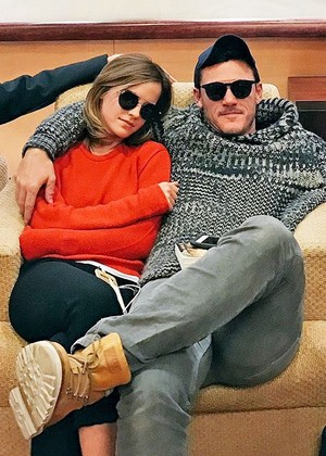 Emma and her BATB co-star,Luke Evans
