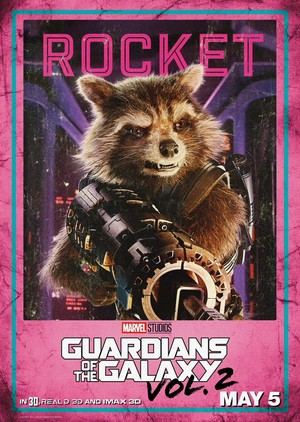 Guardians Of The Galaxy Vol. 2 ~ Character Poster - Rocket