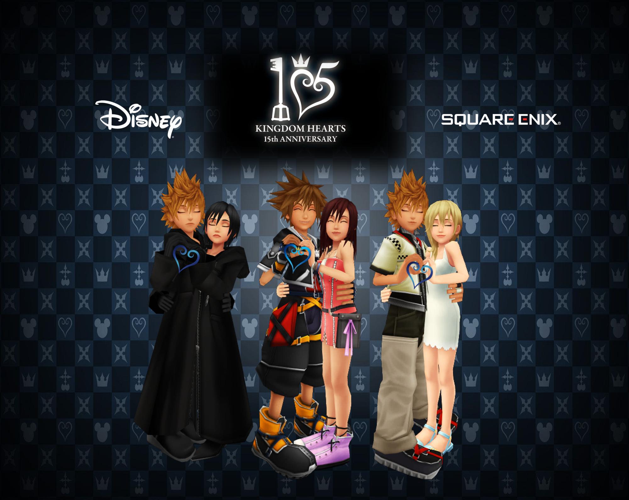 Kingdom Hearts trios imágenes Happy 15th Anniversary Kingdom Hearts