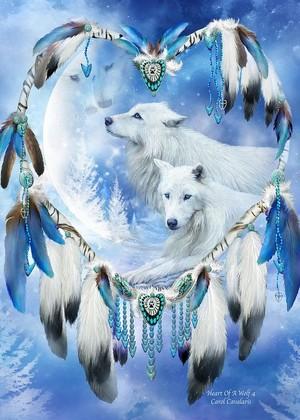hati, tengah-tengah Of A serigala, wolf 4 sejak Carol Cavalaris