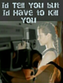 I'd tell you, But I'd have to Kill You - writing photo