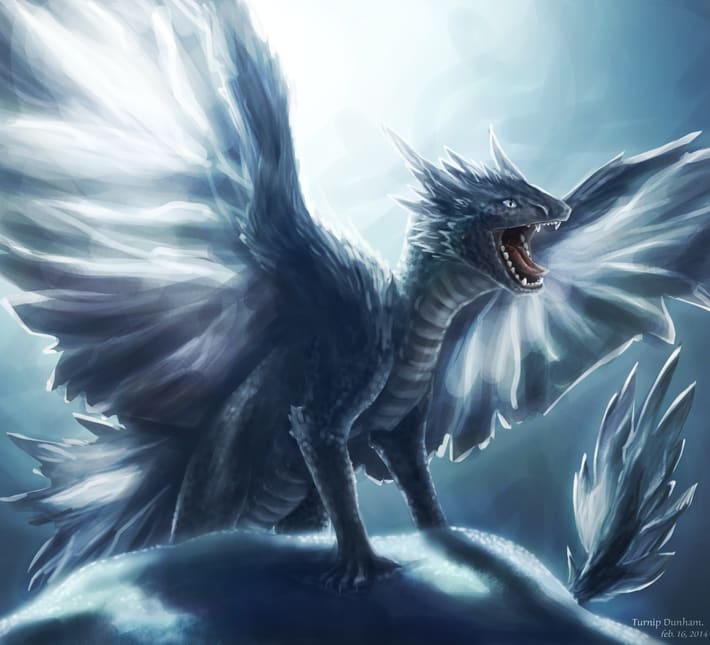 dragons images ice dragon wallpaper and background photos 40310064
