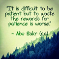 Islamic nukuu about patience