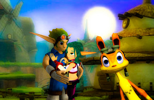 Jak and Daxter with Jak s Love Interest Keira Hagai