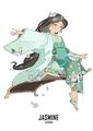 Jasmine - childhood-animated-movie-heroines fan art