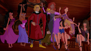 Jehan Frollo with prostitutes