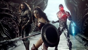 Justice League (2017) - Aquaman, Wonder Woman, and Cyborg
