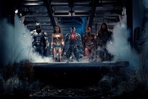 Justice League (2017) - Batman, Wonder Woman, Cyborg, The Flash, and Aquaman