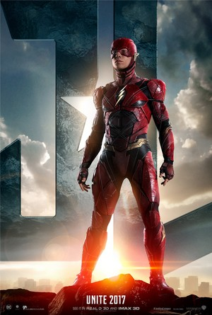 Justice League (2017) Poster - Ezra Miller as The Flash
