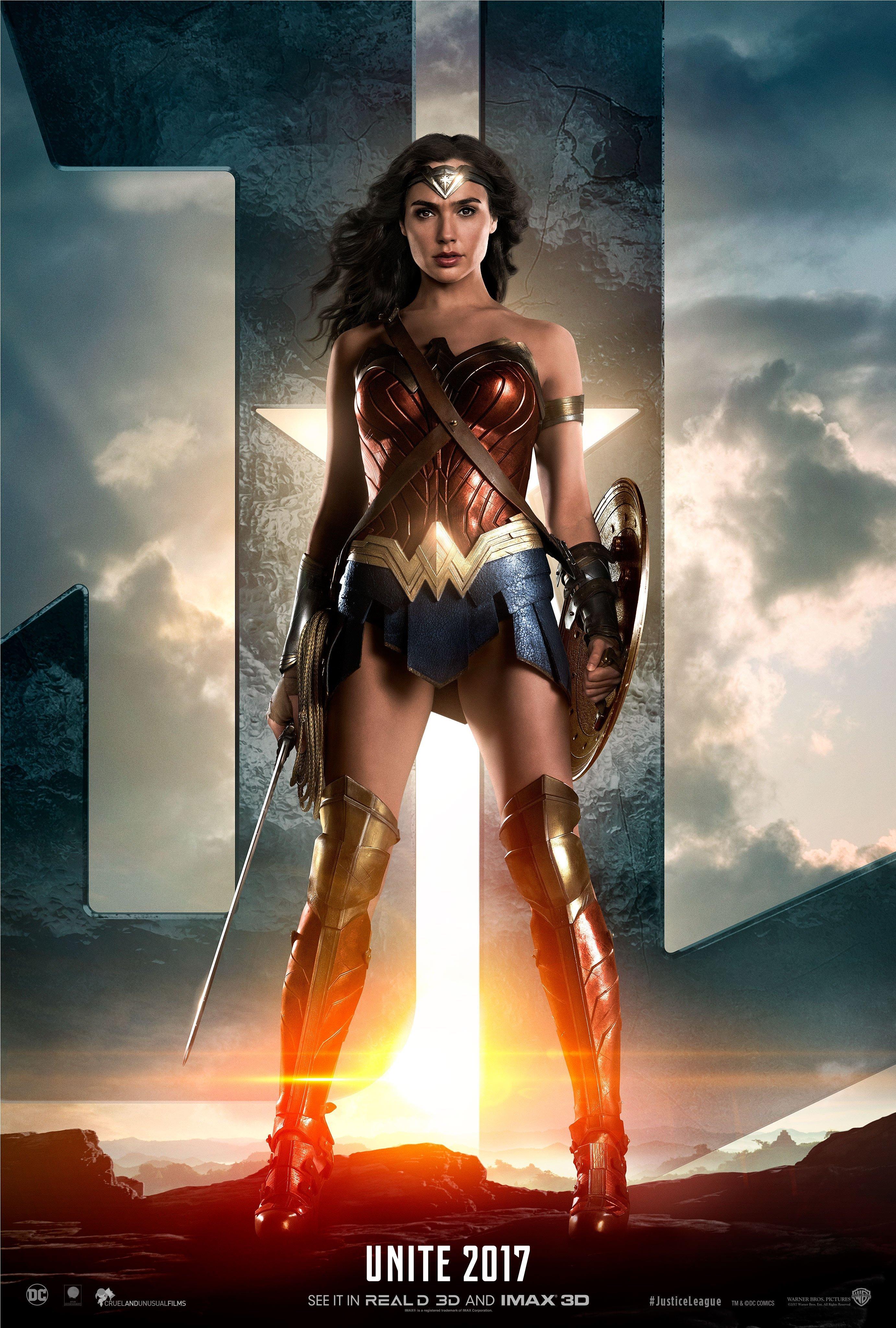 Gal Gadot Images Justice League 2017 Poster Gal Gadot As Wonder