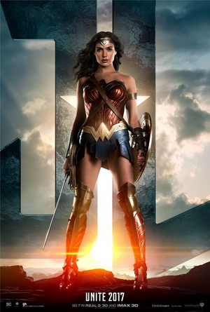 Justice League (2017) Poster - Gal Gadot as Wonder Woman