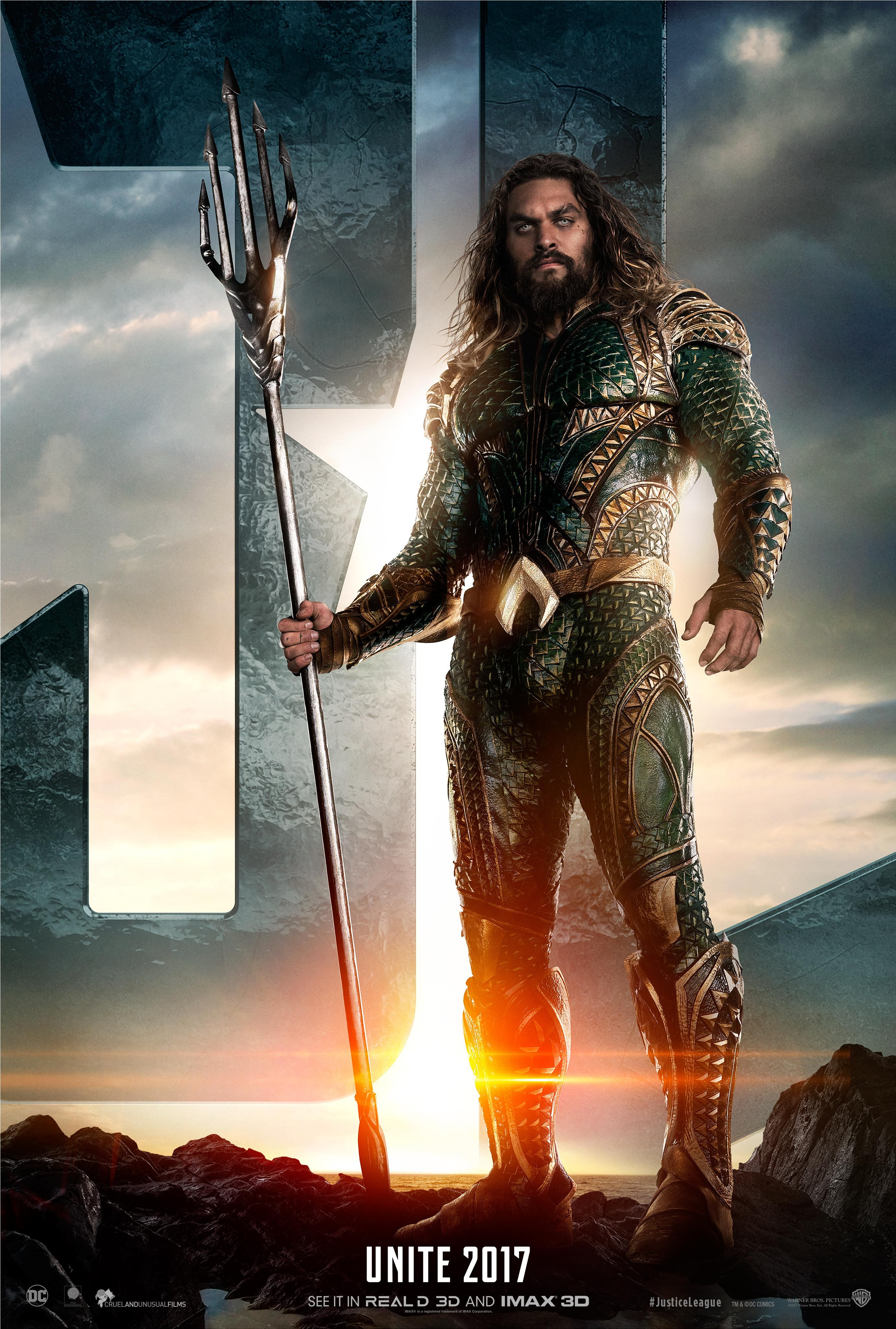 Justice League Movie images Justice League (2017) Poster - Jason Momoa as Aquaman HD wallpaper ...