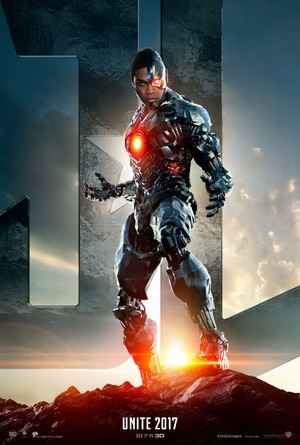 Justice League (2017) Poster - Ray Fisher as Cyborg