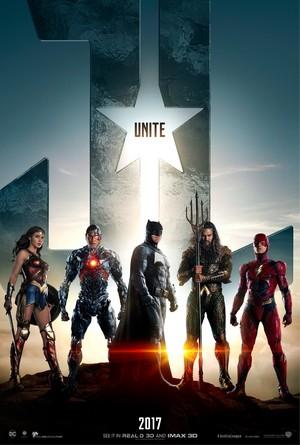 Justice League (2017) Poster - Unite