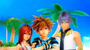 Kingdom Hearts III Destiny Islands Trios Sora Kairi and Riku edited