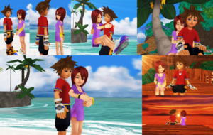 Kingdom Hearts Sora and Kairi KH1 Dream Story