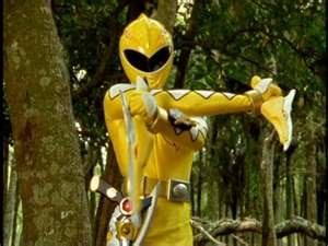 Kira Morphed As The Yellow Dino Ranger