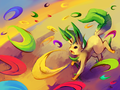 Leafeon Used Magical Leaf  - pokemon photo