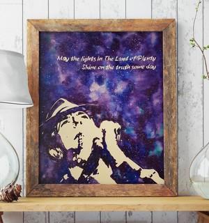 Leonard Cohen art poster