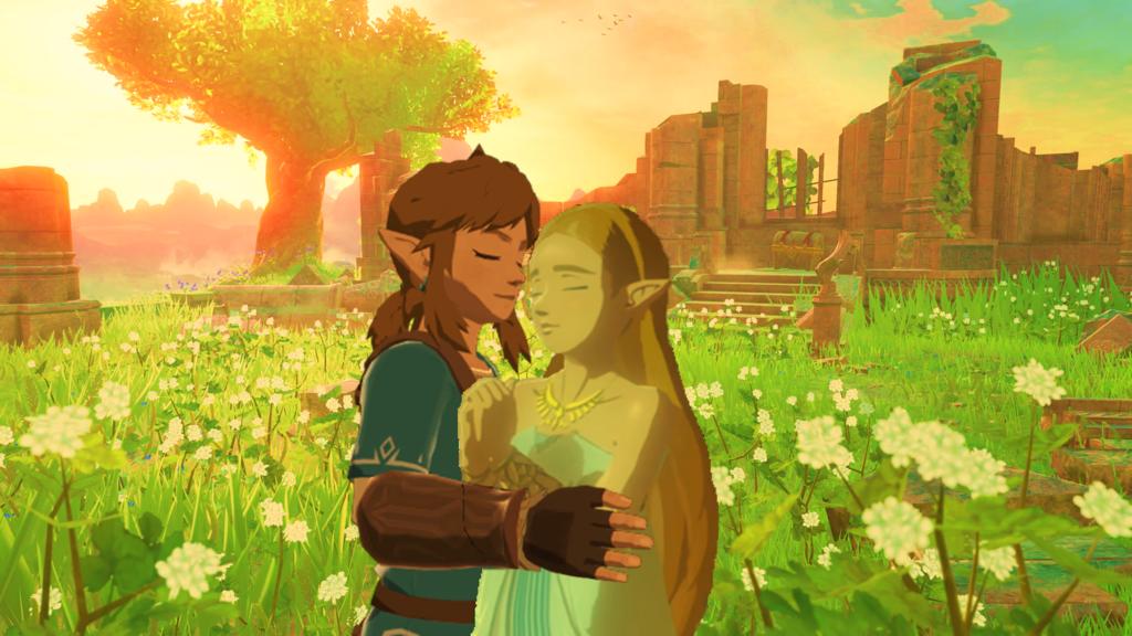 Link And Zelda Breath Of The Wild In Love Link And Zelda