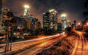 Los Angeles - Downtown Skyline at Night