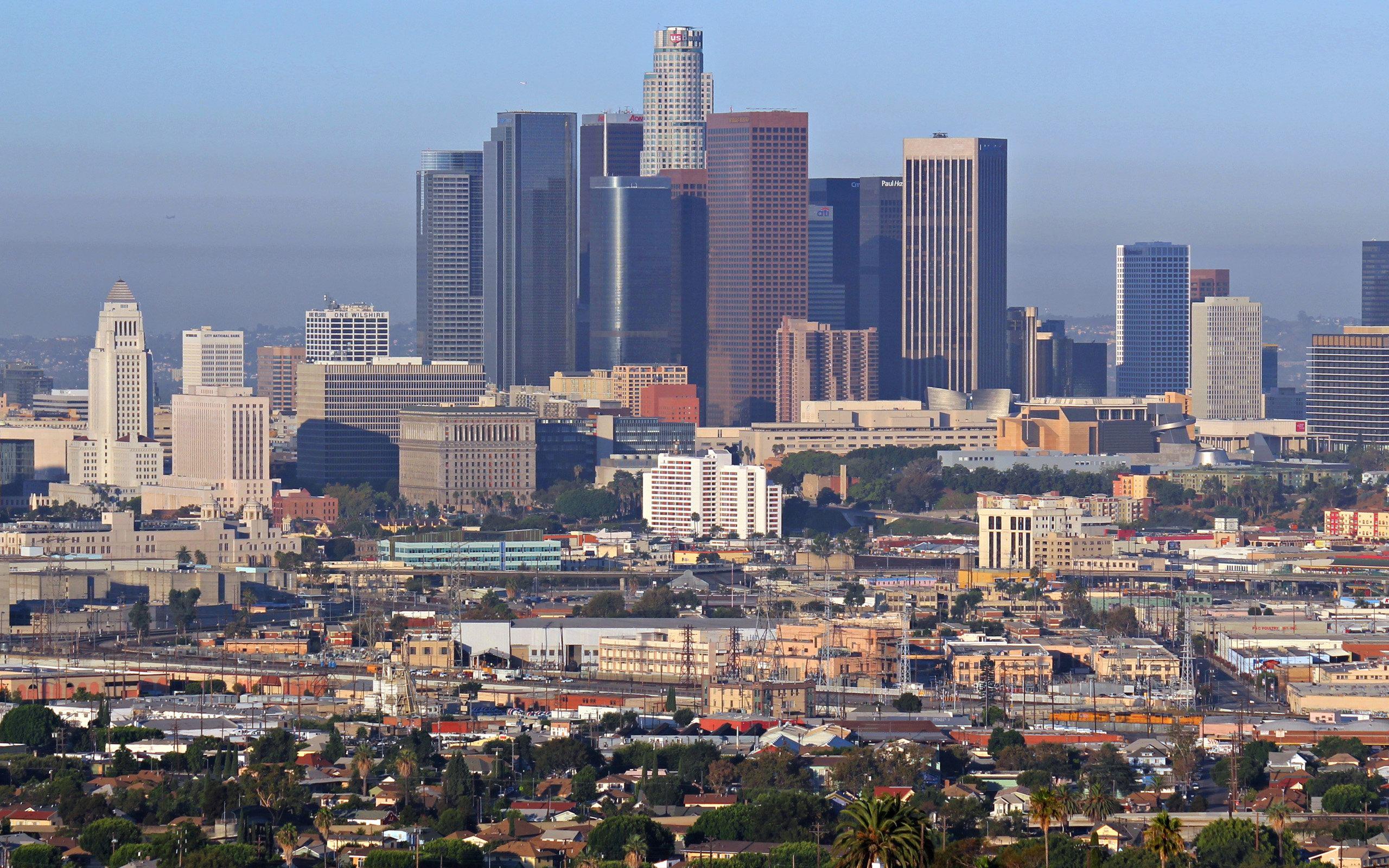 Los Angeles Downtown Skyline Los Angeles Fond D Ecran