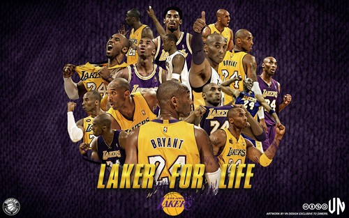Los Angeles Lakers wallpaper entitled Los Angeles Lakers - Kobe Bryant: Laker For Life