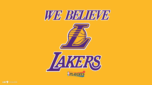 Los Angeles Lakers hình nền called Los Angeles Lakers - We Believe