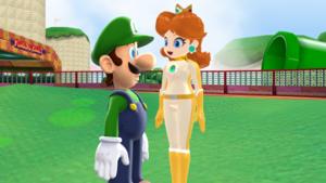 Luigi x ফ্ুলপাছ are Racing তারিখ MMD