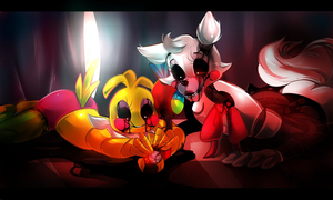 Mangle and Toy Chica