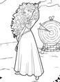 Merida arms crossed and bow slung on shoulder - disney-princess photo