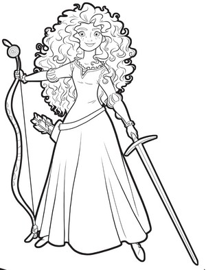 Merida with weapons