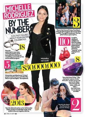 Michelle Rodriguez: By The Numbers | OK! Magazine