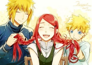 Minato, Kushina, and নারুত ~ Most adorable thing in the world XD