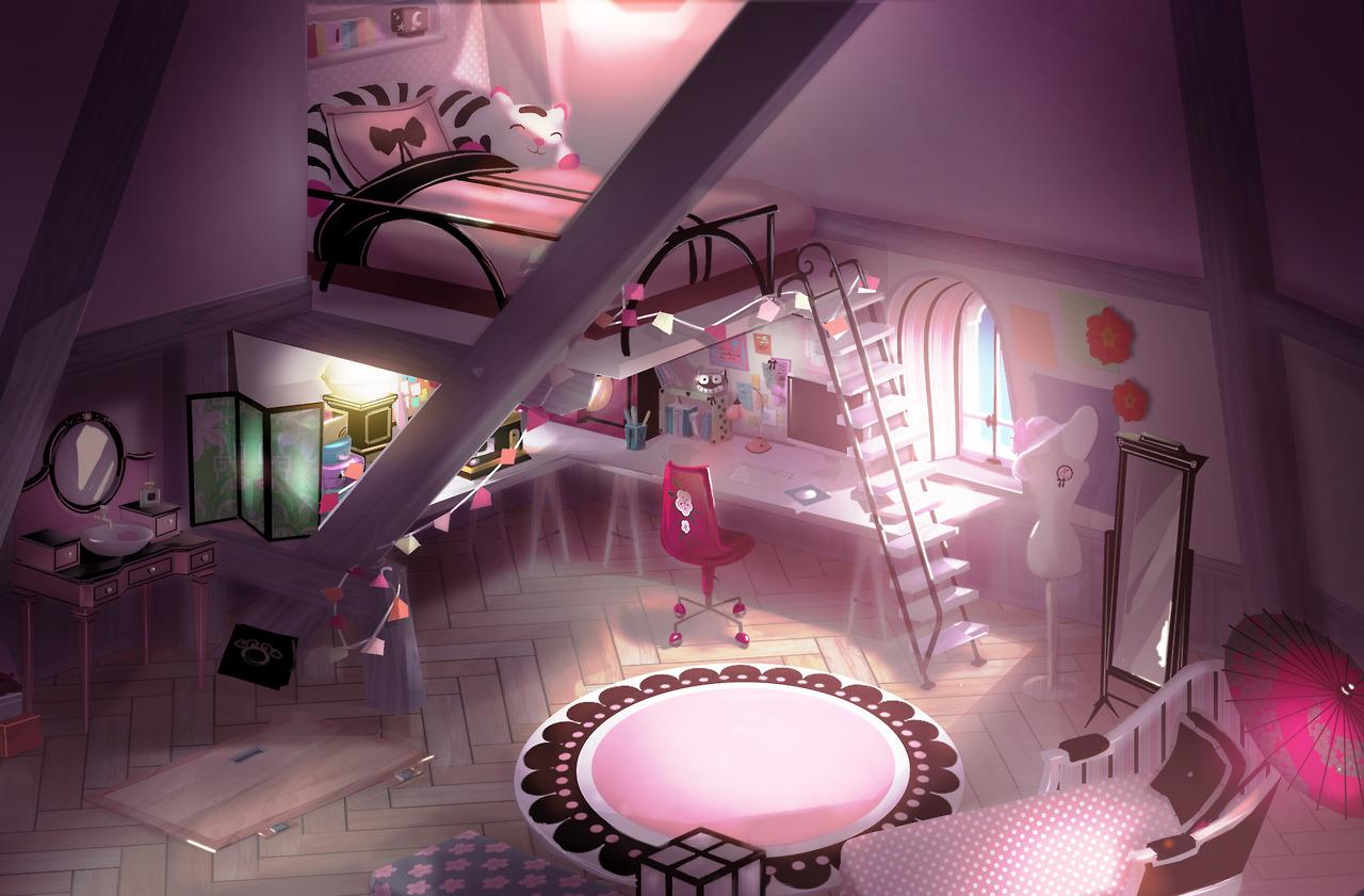 Miraculous Ladybug Hintergrund Led Marinette S Room Concept Art