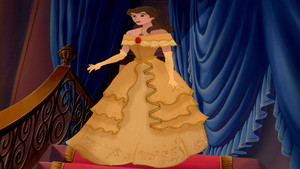My Redesign of Emma Watson's Yellow Belle Dress
