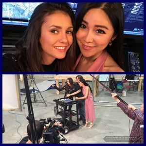 Nina Dobrev On Set foto