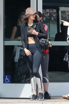 Nina Dobrev leaving the gym in Hollywood