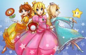 Peach, Daisy, and Rosalina