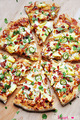 Pineapple Pulled Pork Pizza with Bacon - pizza photo
