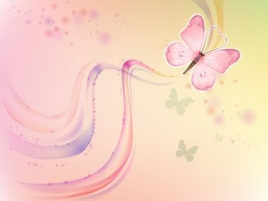 pink Butterfly,Wallpaper