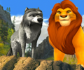 Proud leaders - Winston and Mufasa  - alpha-and-omega fan art