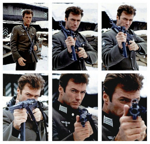 Publicity photographs of Clint on the set of Where Eagles Dare