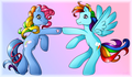 Rainbow Dashes - rainbow-dash fan art